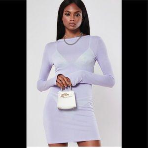 MISSGUIDED Dress Size 2 lilac mini NWT